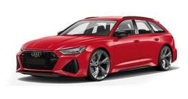 Audi  - RS 6 Avant 2019 red metallic - 1:87 - Minichamps - 87001010010 - mc870010010 | Toms Modelautos