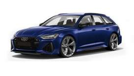 Audi  - RS 6 Avant 2019 blue metallic - 1:87 - Minichamps - 87001010011 - mc870010011 | Toms Modelautos