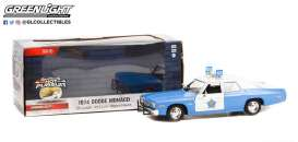 Dodge  - Monaco 1974 white/blue - 1:24 - GreenLight - 85541 - gl85541 | Toms Modelautos