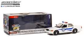 Plymouth  - Crown Victoria 1975 white/blue - 1:24 - GreenLight - 85543 - gl85543 | Toms Modelautos