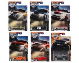 Ford  - Mustang assortment various - 1:64 - Matchbox - GGF12 - MBGGF12-956D | Toms Modelautos