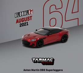 Aston Martin  - DBS red - 1:64 - Tarmac - T64G-004-RE - TC-T64G004RE | Toms Modelautos