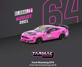 Ford  - Mustang pink - 1:64 - Tarmac - T64G-011-PWC - TC-T64G011PWC | Toms Modelautos