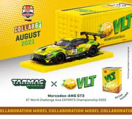 Mercedes Benz  - AMG GT3 yellow/green - 1:64 - Tarmac - T64-008-VLT - TC-T64-008VLT | Toms Modelautos