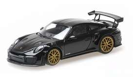 Porsche  - 911 2018 black - 1:43 - Minichamps - 410067291 - mc410067291 | Toms Modelautos