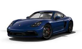Porsche  - 718 Cayman GTS (982) 2020 blue metallic - 1:43 - Minichamps - 410069002 - mc410069002 | Toms Modelautos