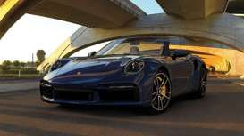 Porsche  - 911 (992) Turbo S Cabriolet 2020 blue metallic - 1:43 - Minichamps - 410069480 - mc410069480 | Toms Modelautos