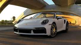 Porsche  - 911 (992) Turbo S Cabriolet 2020 grey - 1:43 - Minichamps - 410069481 - mc410069481 | Toms Modelautos