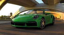 Porsche  - 911 (992) Turbo S Cabriolet 2020 green - 1:43 - Minichamps - 410069482 - mc410069482 | Toms Modelautos