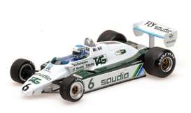 Williams  - FW 08 1982 white/green - 1:43 - Minichamps - 436826606 - mc436826606 | Toms Modelautos