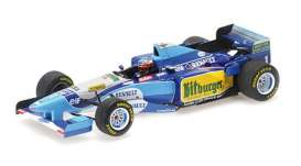 Benetton Renault - B195 1995 blue/white/yellow - 1:43 - Minichamps - 517951501 - mc517951501 | Toms Modelautos