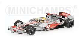 McLaren Mercedes Benz - MP4/23 2008 silver - 1:43 - Minichamps - 530084332 - mc530084332 | Toms Modelautos