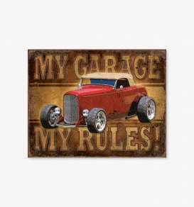 Tac Signs  - Hot Rod red/brown - Tac Signs - D1761 - tacD1761 | Toms Modelautos