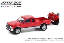 GMC  - Sonoma 1991 red - 1:64 - GreenLight - 28080C - gl28080C | Toms Modelautos