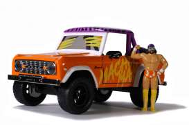 Ford  - Bronco *Macho Man* 1973 orange/purple/white - 1:24 - Jada Toys - 32046 - jada32046o | Toms Modelautos