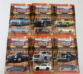 Cadillac  - assortment various - 1:64 - Matchbox - GGF12 - MBGGF12-968J | Toms Modelautos