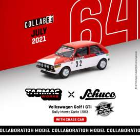 Volkswagen  - Golf I GTi 1983 red/white - 1:64 - Tarmac - T64S-008-MAR - TC-T64S008MAR | Toms Modelautos