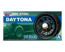 Wheels & tires Rims & tires - AWC Steel Daytona  - 1:24 - Aoshima - 05428 - abk05428 | Tom's Modelauto's