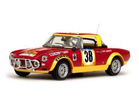 Fiat Abarth - Fiat 124 1975 red/yellow - 1:43 - Vitesse SunStar - 42441 - vss42441 | Toms Modelautos