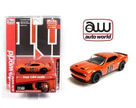 Dodge  - Challenger SRT Hellcat #10 1962 orange/black - 1:64 - Auto World - CP7754 - AWCP7754 | Toms Modelautos