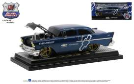 Chevrolet  - 150 Sedan 1957 blue/black - 1:24 - M2 Machines - 40300-84A - M2-40300-84A | Toms Modelautos