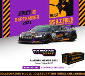 Audi  - R8 LMS 2020 black/purple/orange - 1:64 - Tarmac - T64-070-EVA20 - TC-T64-070EVA20 | Toms Modelautos