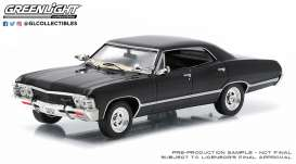 Chevrolet  - Impala 1967 black - 1:43 - GreenLight - 86443 - gl86443 | Toms Modelautos