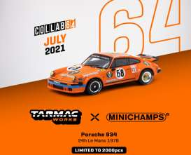 Porsche  - 934 1978 orange - 1:64 - Tarmac - T64MC-003-JAG - TC-T64MC003JAG | Toms Modelautos